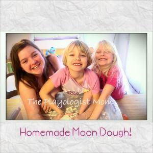 """My Girls """"Squish Mixing"""" a Triple Batch of Moon Dough"""